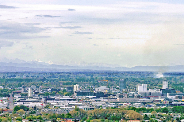 View of Christchurch city skyline